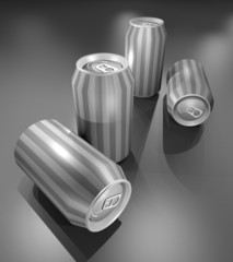 Grey cans
