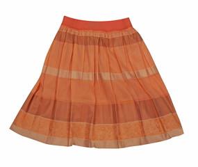 orange miniskirt  isolated on white