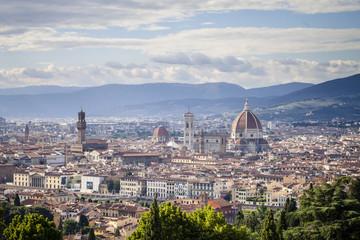 Italien, Toskana, Florenz, mit Blick auf die Stadt und die Kathedrale Palazzo Vecchio Santa Maria del Fiore