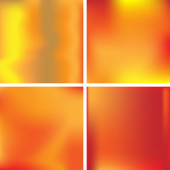 Set of abstract colorful blurred vector backgrounds