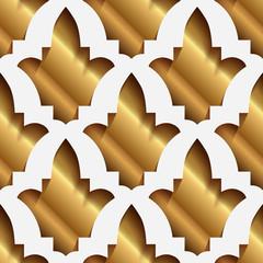 Vektörel İllüstrasyon; Altın Origami Arka Plan Deseni