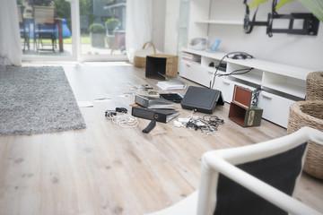 Chaos nach Einbruch in einem Einfamilienhaus