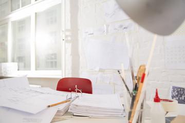 Arbeitsplatz in Architekturbüro
