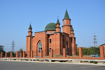 The mosque in the city of Komsomolsk-on-Amur, Russia