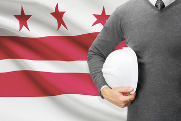 Engineer with flag - District of Columbia - Washington, D.C.