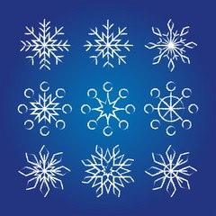 Decorative Snowflakes collection.