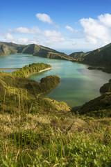 Portugal, Azoren, Sao Miguel,der Kratersee Lago di Fogo