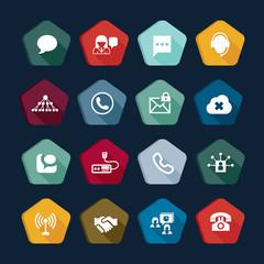 Communication icons - email, phone, web vector set