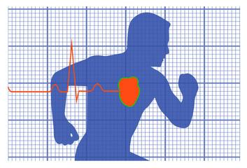 running man symbol cardiovascular medicine