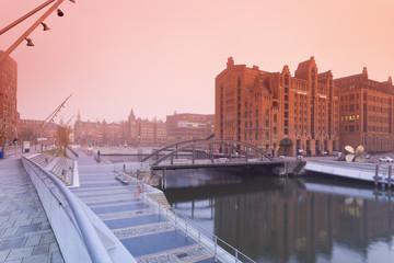 Deutschland, Hamburg, Speicherstadt, Brooktorhafen und Maritime Museum