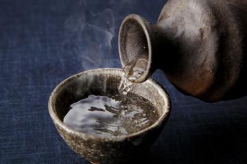 日本酒 熱燗 Japanese hot sake