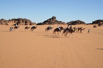 Kameltour Sahara Libyen