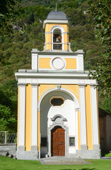 The chapel of Cevio on Maggia valley