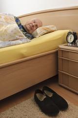 Alter Mann im Schlaf