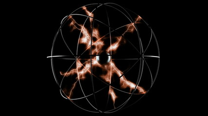 Abstract plasma sphere. alpha mated