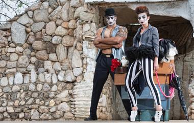 Surreal Circus Performers
