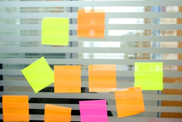 colourful blank post it