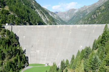 The hydroelectric dam of Sambuco on maggia valley
