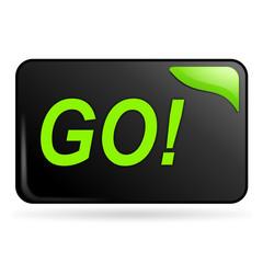 go sur bouton web rectangle vert
