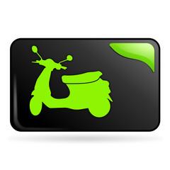 scooter sur bouton web rectangle vert