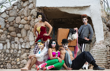 Cirque Performers on Stage