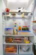 Leinwanddruck Bild - Kühlschrank gefüllt
