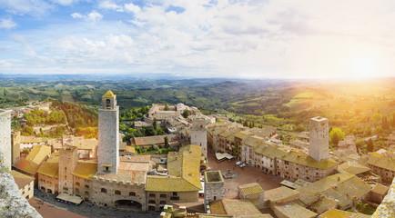 Italien, Toskana, San Gimignano, Blick auf Stadt