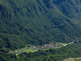 Dogna Village Italy Aerial
