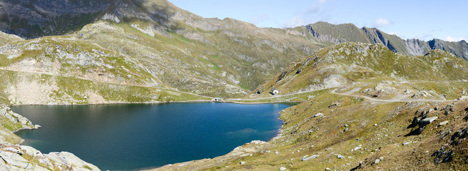 Alpin lake at Maggia valley