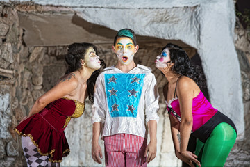 Women with Blushing Cirque Clown