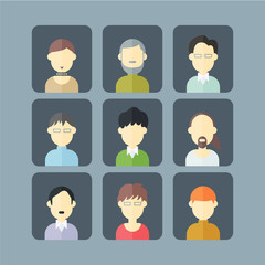 People avatar illustration vector