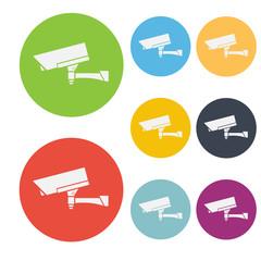 CCTV Camera Icon Symbol Vector