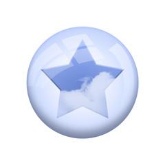 Icone nuage : étoile