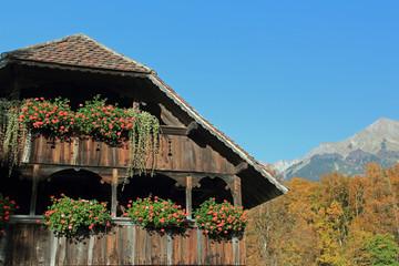 bauernhaus in den alpen schweiz