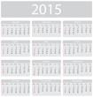 Minimalistic 2015 calendar - week starts with sunday