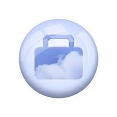 Icone nuage : valise