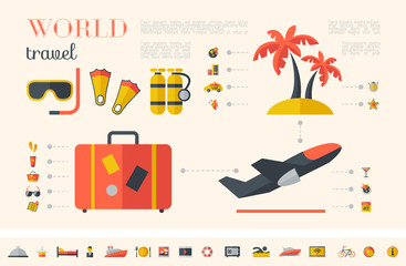 Travel Infographic Template.