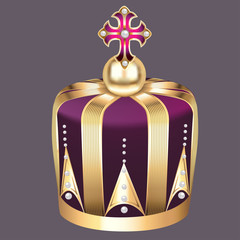 imperial crown of gold and pearls