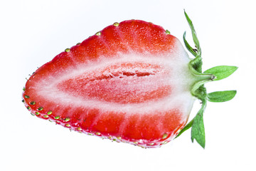 Fresh strawberry half