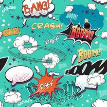 la page de la BD avec des bulles de la parole, des sons différents, des flèches.