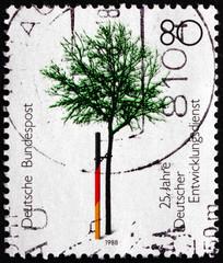 Postage stamp Germany 1988 German Volunteer Service