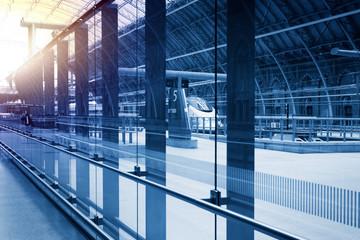 art modern railway station