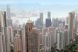 Hong Kong from peak Victory