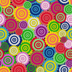 Abstract colorful seamless pattern with circle