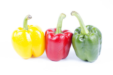 Group of color bell peppers