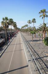Columbus Avenue. Barcelona, Spain