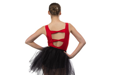 Photo of ballerina from the back