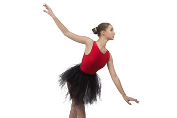 Young ballerina in position