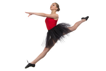 Photo of jumping ballerina
