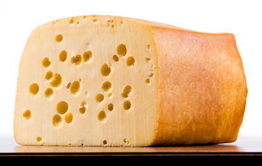 Radamer cheese isolated on white